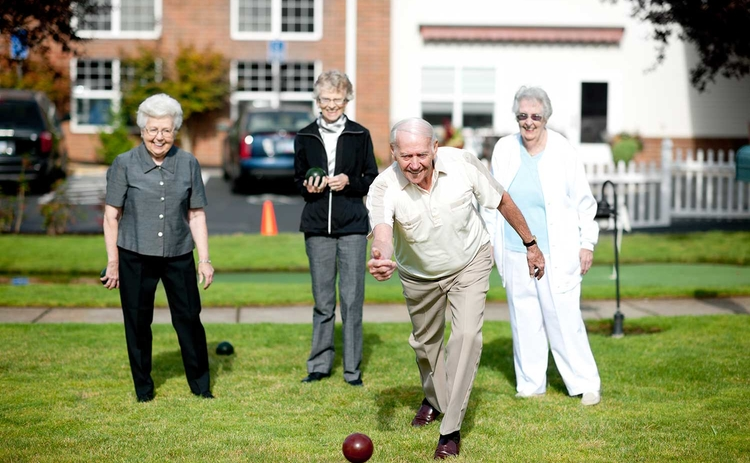 Retirement village bowls