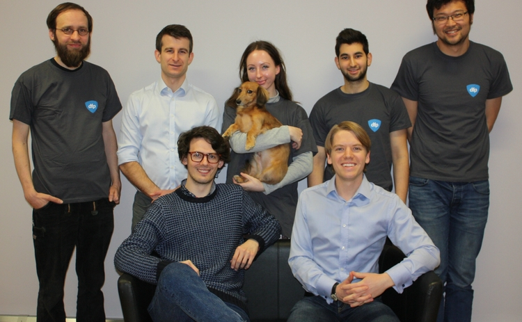 CEO Erik Abrahamson [front far right] and Digital Fineprint raise £2m