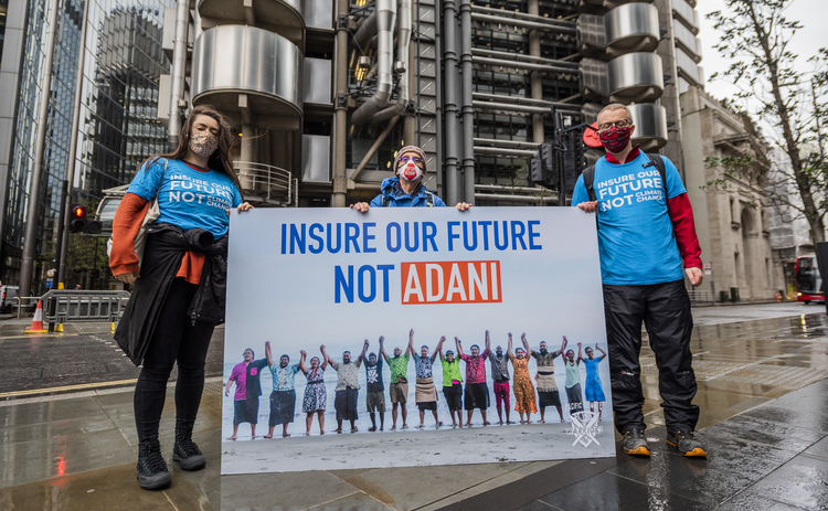 Loyd's Insure our Future protest