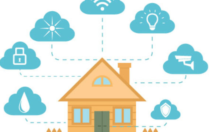 An illustration showing the connected home