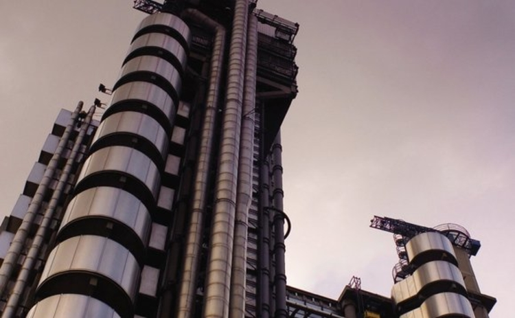 Lloyd's building at dusk