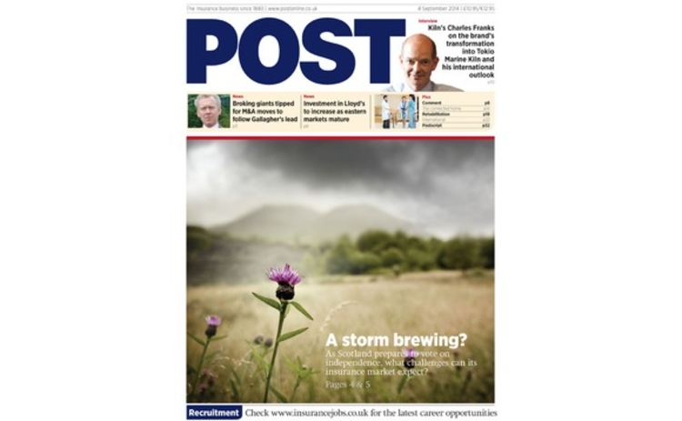 The front cover of the 4 September issue of Post magazine