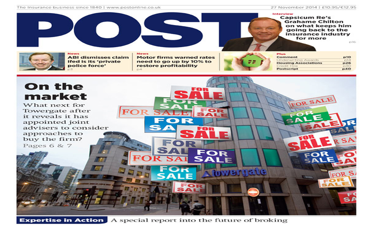 The front cover of the 27 November issue of Post magazine