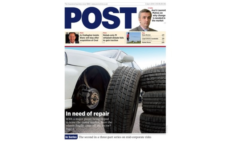 The front cover of the 3 April 2014 issue of Post magazine