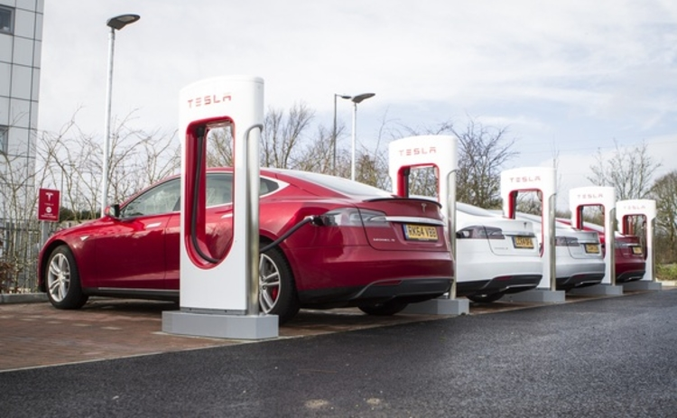 Tesla superchargers set up in Maidstone Kent