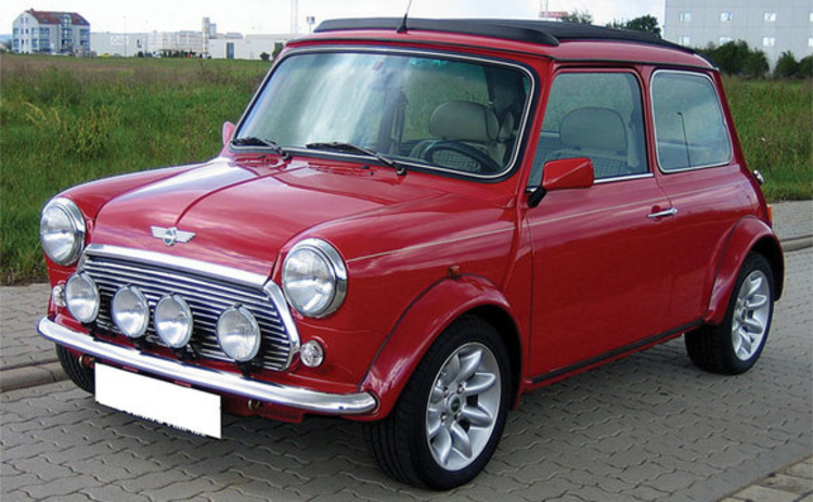 A classic Mini car