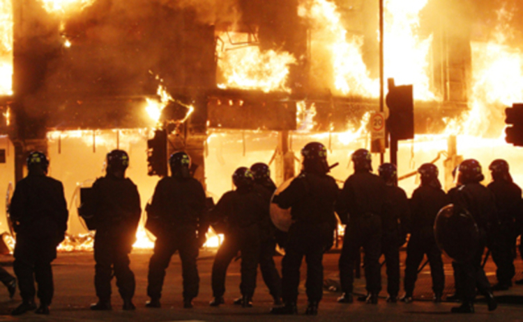 London riots - copyright Press Association