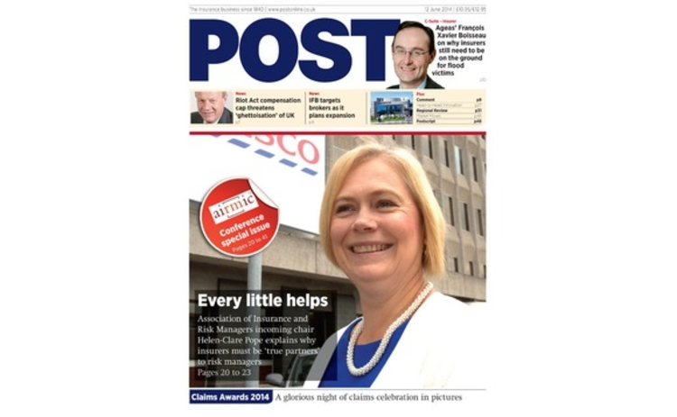 The front cover of the 12 June Post magazine