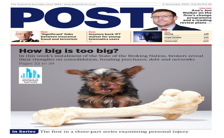 The front cover of the 6 November issue of Post magazine