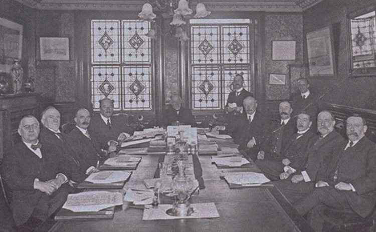 The LV board at the time of the war