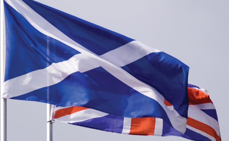 Scotland and UK flags