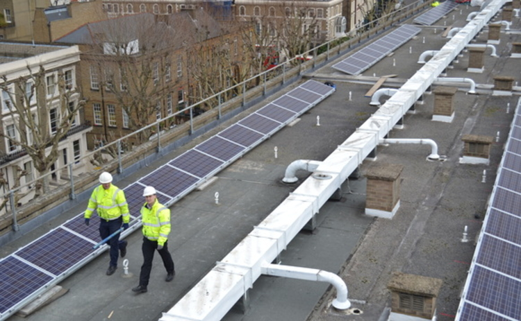 Westminster City Council solar panels