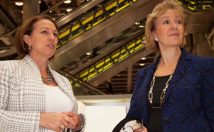 Andrea Leadsom MP with Lloyd's CEO Inga Beale