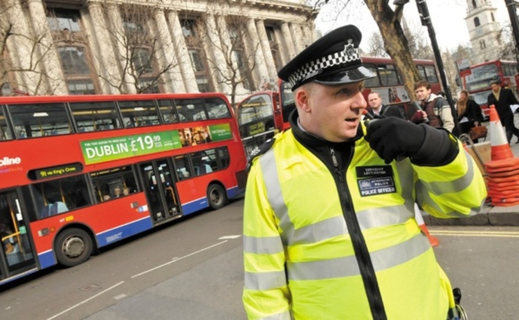 Metropolitan Police officer on the streets of London