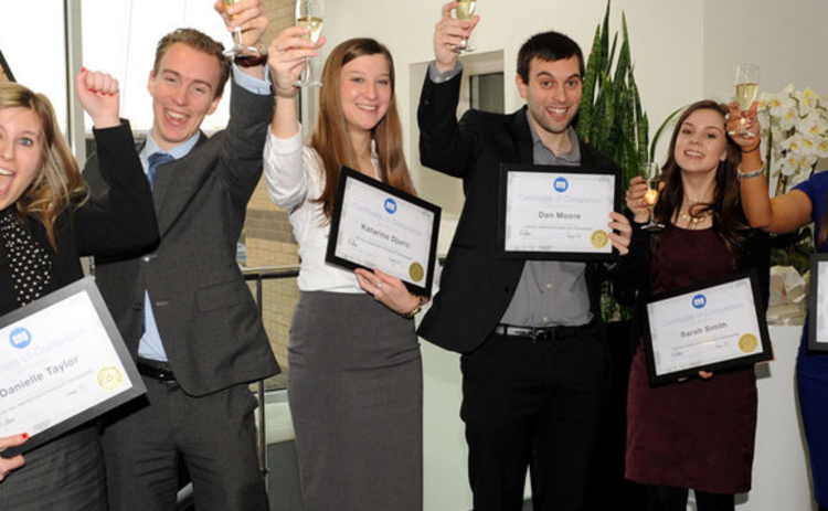 BGL marketing graduates with their certificates