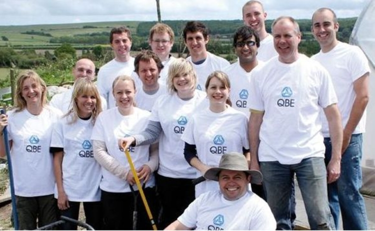 QBE team on Monksheads Farm 2009