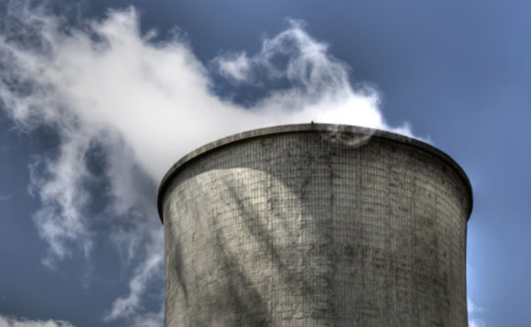 Cooling tower at a nuclear power plant