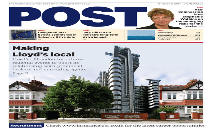 The front cover of the 16 October issue of Post magazine