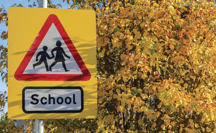 UK school sign