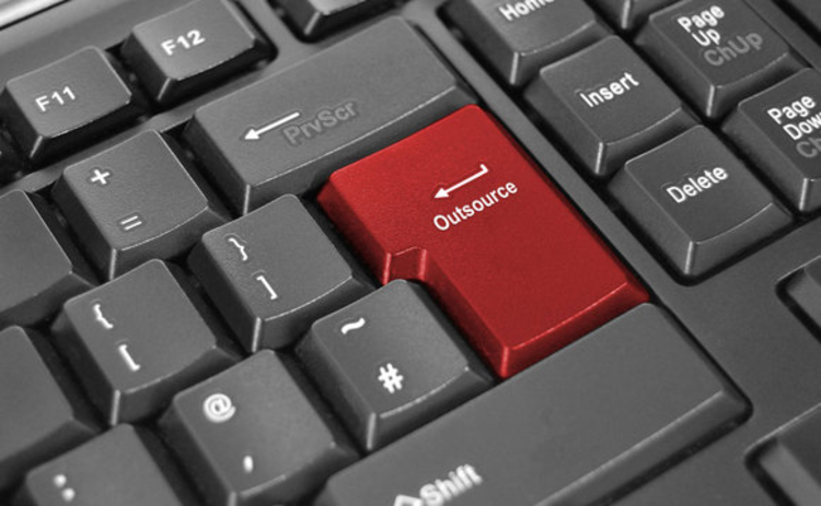 Keyboard outsourcing button