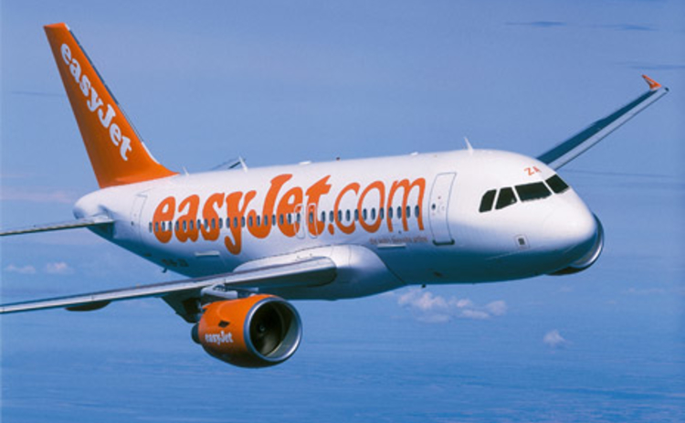 EasyJet aircraft flying