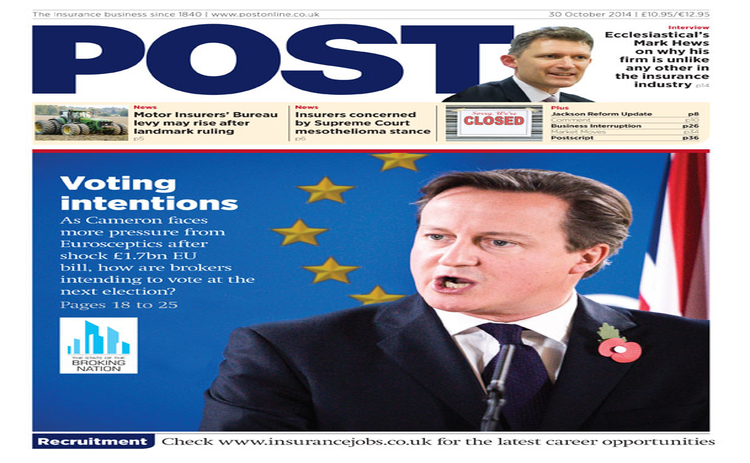The front cover of the 30 October issue of Post magazine