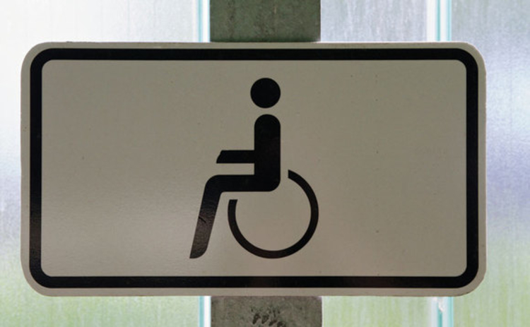 A disabled sign