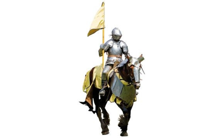 Knight-in-armour on horseback