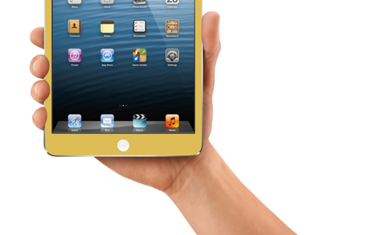 Gold coloured iPad mini