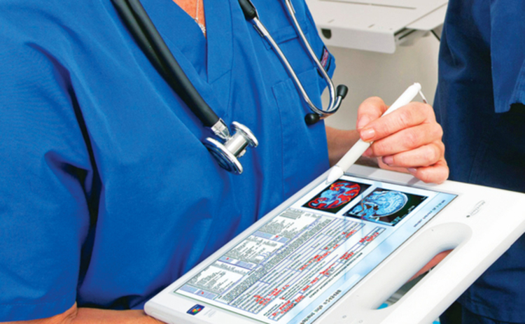 Tablet device in hospital