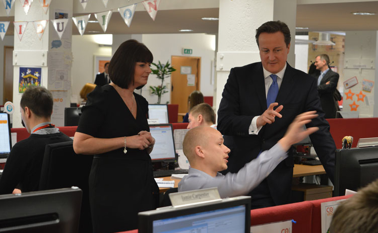 David Cameron visits Covea offices to meet apprentices and graduates