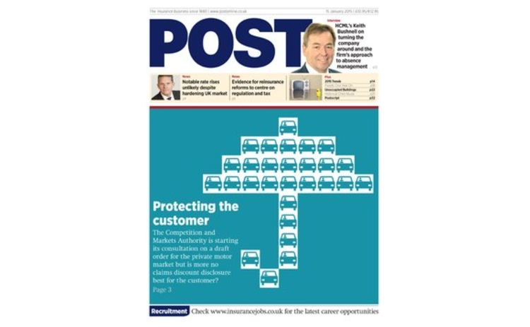 The front cover of the 15 January issue of Post magazine