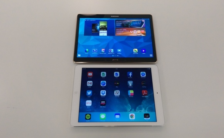 Galaxy Tab S vs iPad Air display