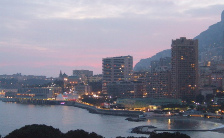 Monte Carlo bay at sunset