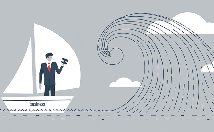 businessman-in-boat-facing-wave