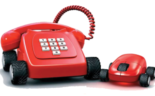 direct line phone and mouse